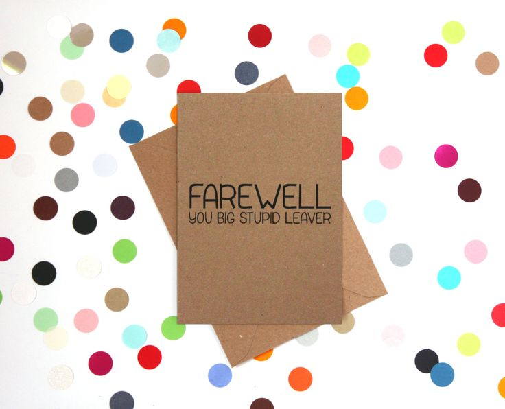 The 25+ best Funny leaving cards ideas on Pinterest Leaving card - farewell card template