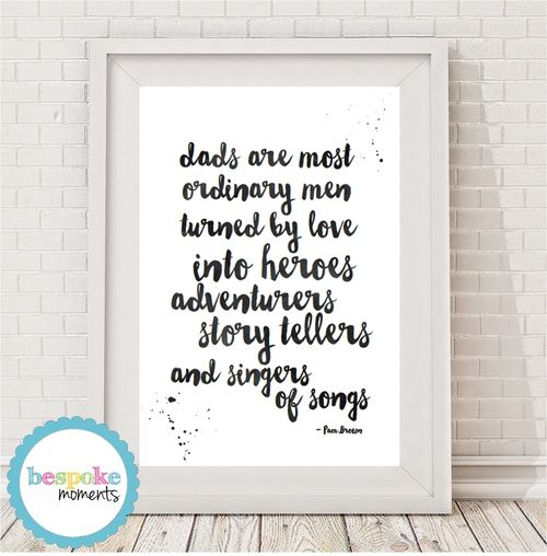 Dad Turned By Love Typographic Print by Bespoke Moments. Worldwide Shipping Available.