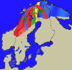 Samekarta. An estimated 50-60000 Sami live in northern Scandinavia and the Kola Peninsula
