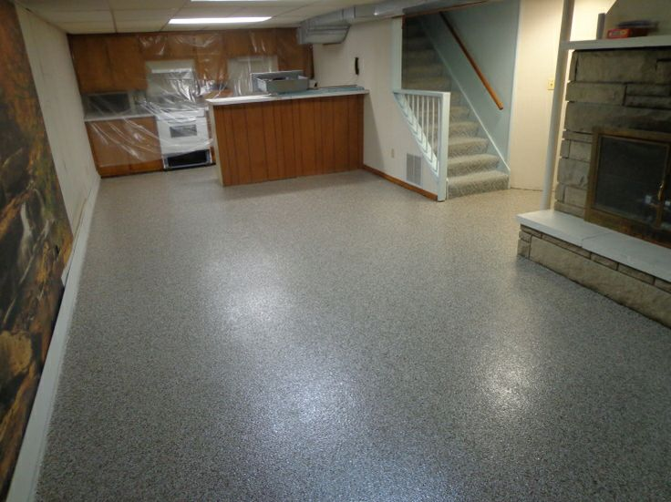 Ft wayne basement epoxy flooring basement flooring for Good carpet for basement floors