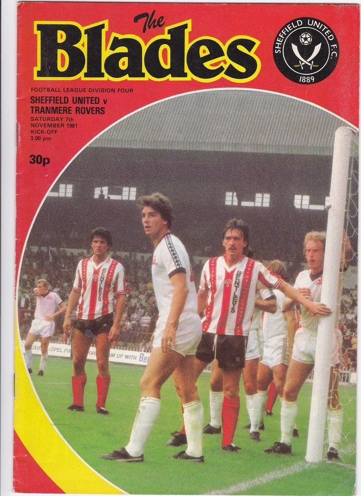 Sheffield United v Tranmere Rovers 1981 / 82 Division 4 programme