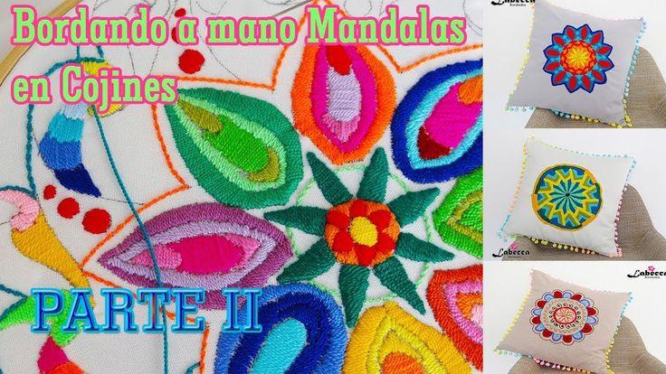 Como Bordamos a mano un Mandala By Labecca Bordados PARTE II. COJIN DECO...