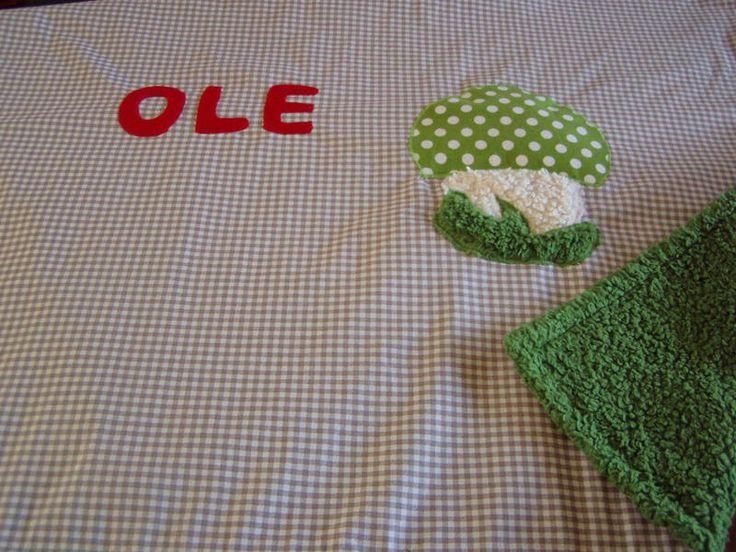 Babydecken - Kuscheldecke mit Pilz - ein Designerstück von FarbenFroh56 bei DaWanda