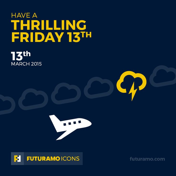 Have a thrilling Friday 13th! Check out our FUTURAMO ICONS – a perfect tool for designers & developers on https://futuramo.com