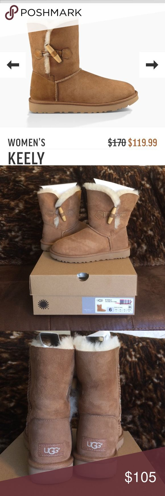 Keely Women's UGG Boots New never used original ugg boots. Color Chestnut. Have original box. UGG Shoes Winter & Rain Boots
