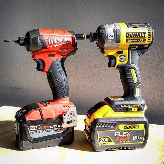 If you want to skip the gym after work just use a massive battery all day... Simple as that. You'll be ripped before you know it. #dewalt #dewalttough #yellow #tools #tool #dewaltcanada #powertools #cordlessdrill #milwaukee #milwaukeetools #red #nbhd #tool #tools #homedepot #batteries #technology #amaze #awesome #small #tough #powertools #highdemand #workout #gym #biceps #love #like #awesome #good #instagood  #picoftheday #jrrusticdesign #toughinthenorth @dewalt_ca @dewalttough…
