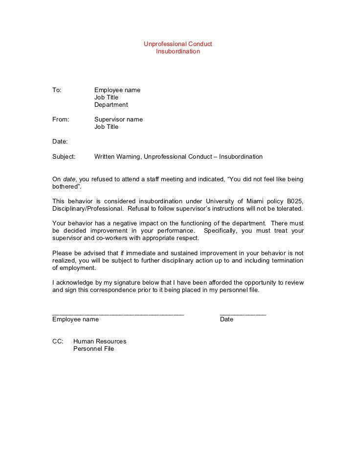 Template Disciplinary Lettersexamples Gables Memo Template