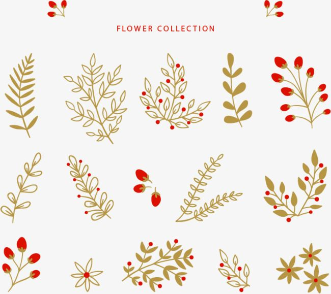 복고 노란색 겨울 화초 귀여운 잎 빨간 꽃 겨울 화초 Png 및 벡터 에 대한 무료 다운로드 손 그리는 법 꽃그림 및 크리스마스 예술
