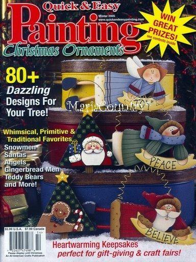 Painting Christmas Ornaments - giga artes country - Álbuns da web do Picasa... Free magazine!
