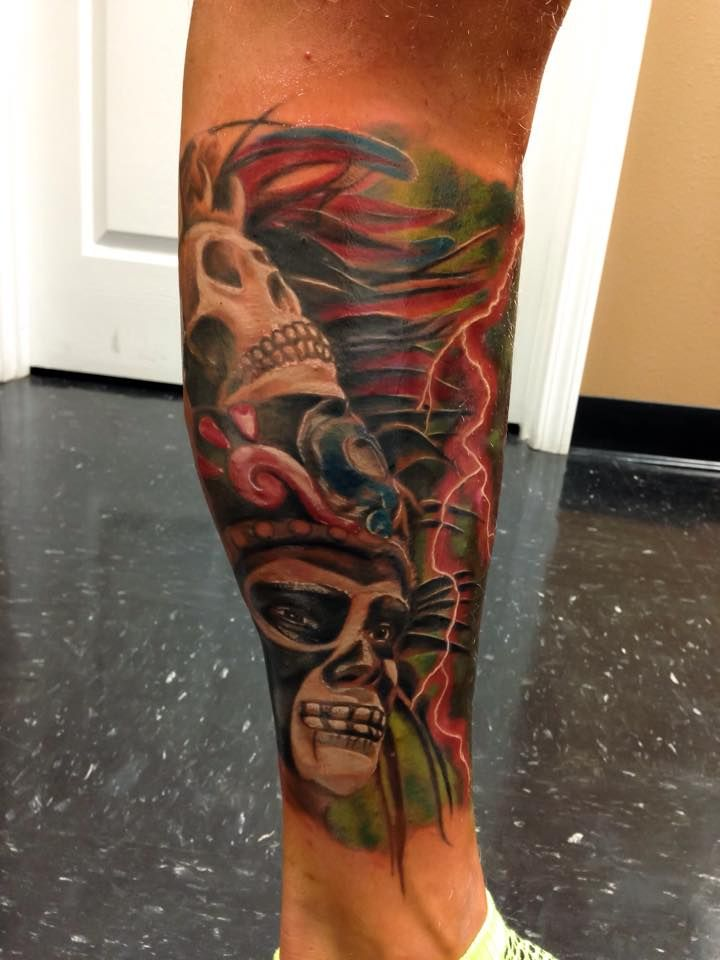 Leg sleeve in progress by resident artist Jerry Pipkins...We are a tattoo shop located in Panama City FL near Panama City Beach. We have some of the best artist or artists in the area.  #tattoo #tattoos #besttattoosaround #panamacityflorida #gulfcoast #baycounty #tattooshop #tattoostudio #best #cool #awesome #panamacity #panama #pcb #panamacitybeach #beach #picoftheday