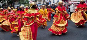 Dancers in the Montmartre Fete des Vendanges parade