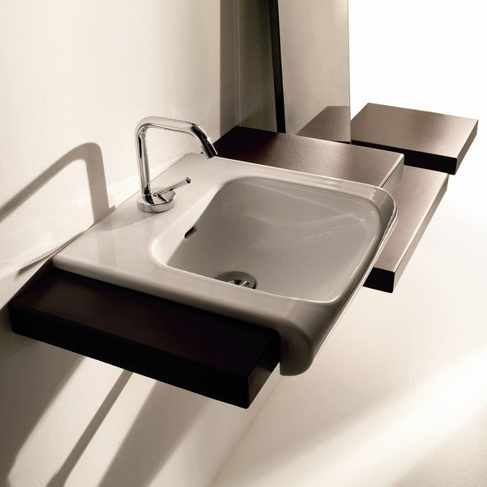 modern bathroom fountain valley reviews%0A Kerasan White Bathroom Sink with One Hole Faucet  Inka      by WS Bath  Collections Bathroom Sink x Designed by Massimiliano Cicconi of Italy