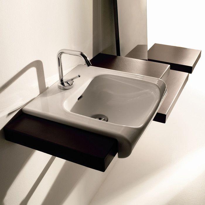 Inka Ceramic 16 Wall Mount Bathroom Sink