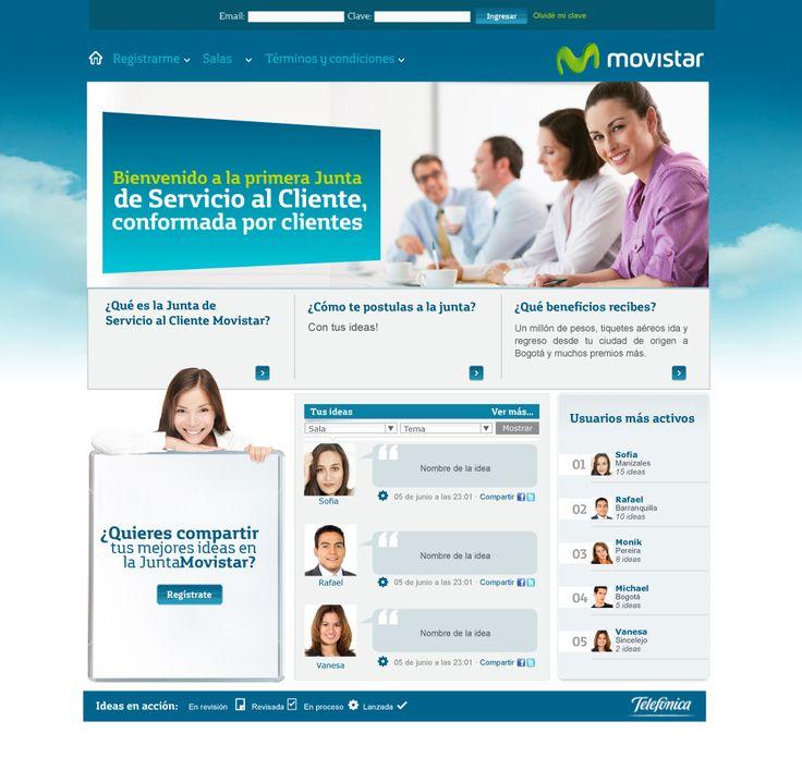Sitio web MOVISTAR LA JUNTA . Año ©2011