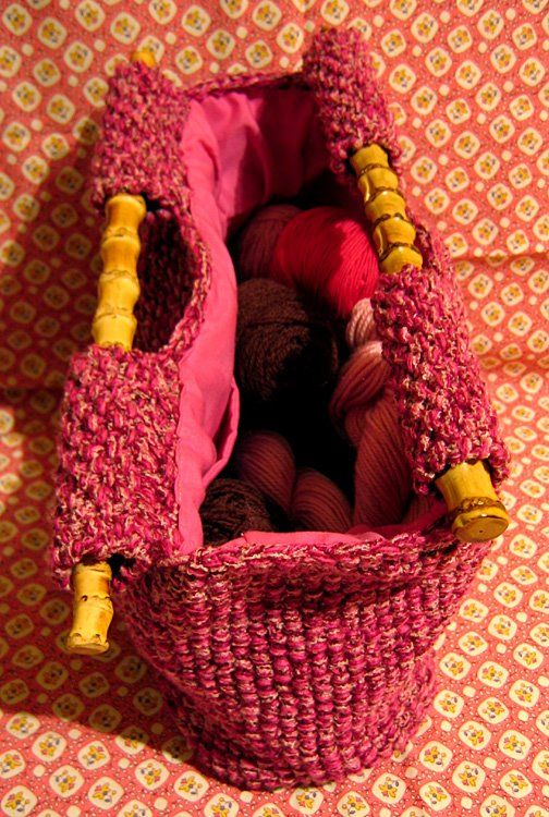How To Line A Knit Bag.