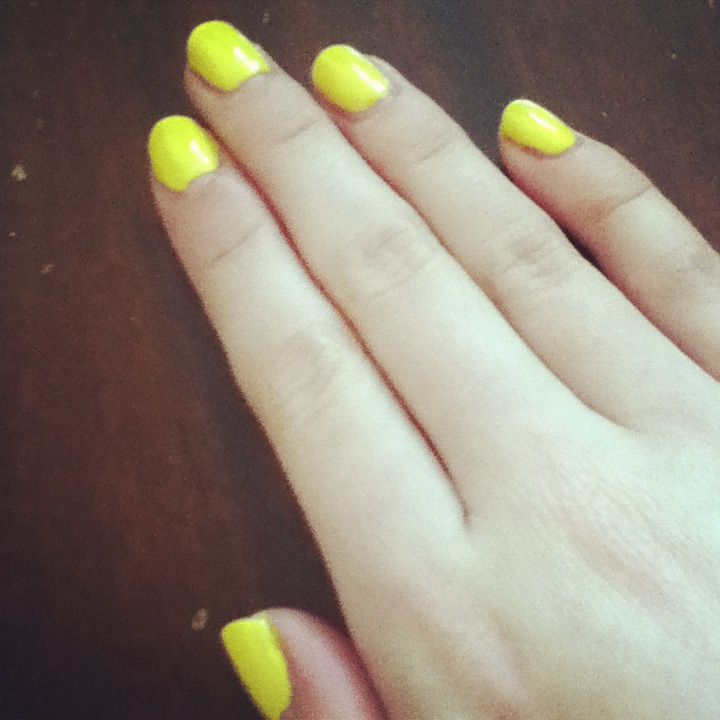 Nails in Avon Limoncello Gel