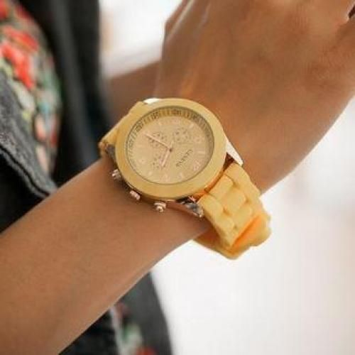 Plastic-Strap Watch