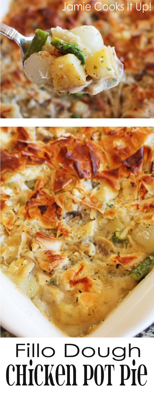 Jamie Cooks It Up – Family Favorite Food and Recipes |fillo dough chicken pot pie