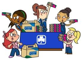 A cute GGC cookie selling graphic.  #Girl_Guides #GGC #cookies