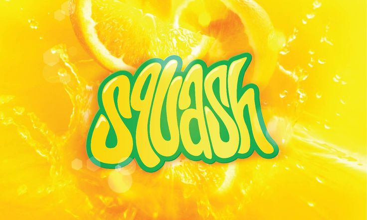 Squash. Fruit juice. Typography. hand drawn lettering. Orange. Designed by White is Black.