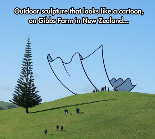New Zealand Cartoon Kleenex Sculpture