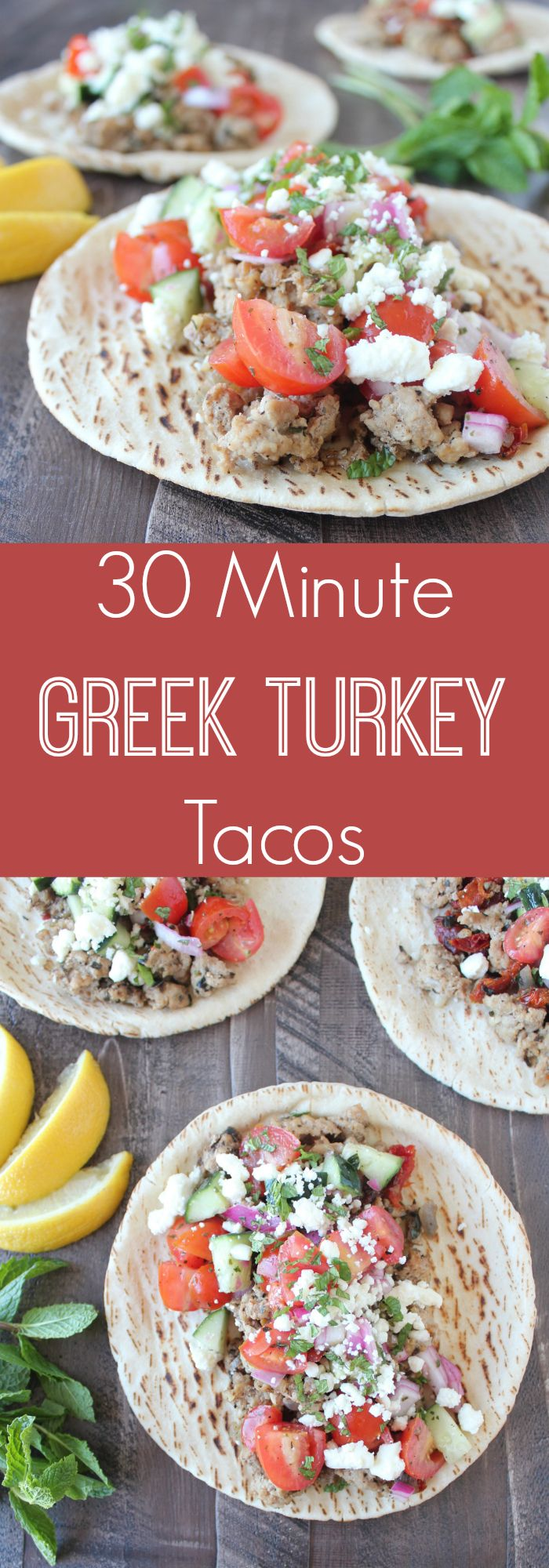 Lean Ground Turkey & Fresh Cucumber Tomato Salsa make these tacos a light & delicious dinner recipe option!