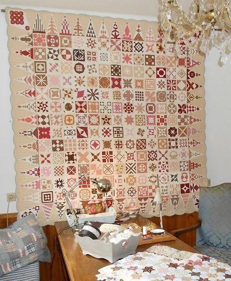 Dear Jane quilt by Ingrid van der Harst-Govers (The Netherlands)
