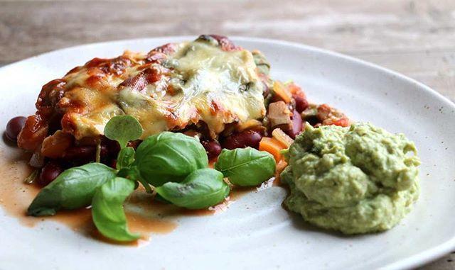 Grønnsaksgrateng med bønner og dobbelt ost 🍆 dagens oppskrift 👉🏻 www.lindastuhaug.no 😊