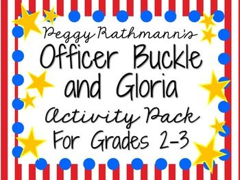Everything you need for a picture book study on Officer Buckle and Gloria by Peggy Rathmann! There are many ways that you can use these resources. You can copy as an entire packet or you can copy pages individually! This can be for a small book club, or for the whole class!
