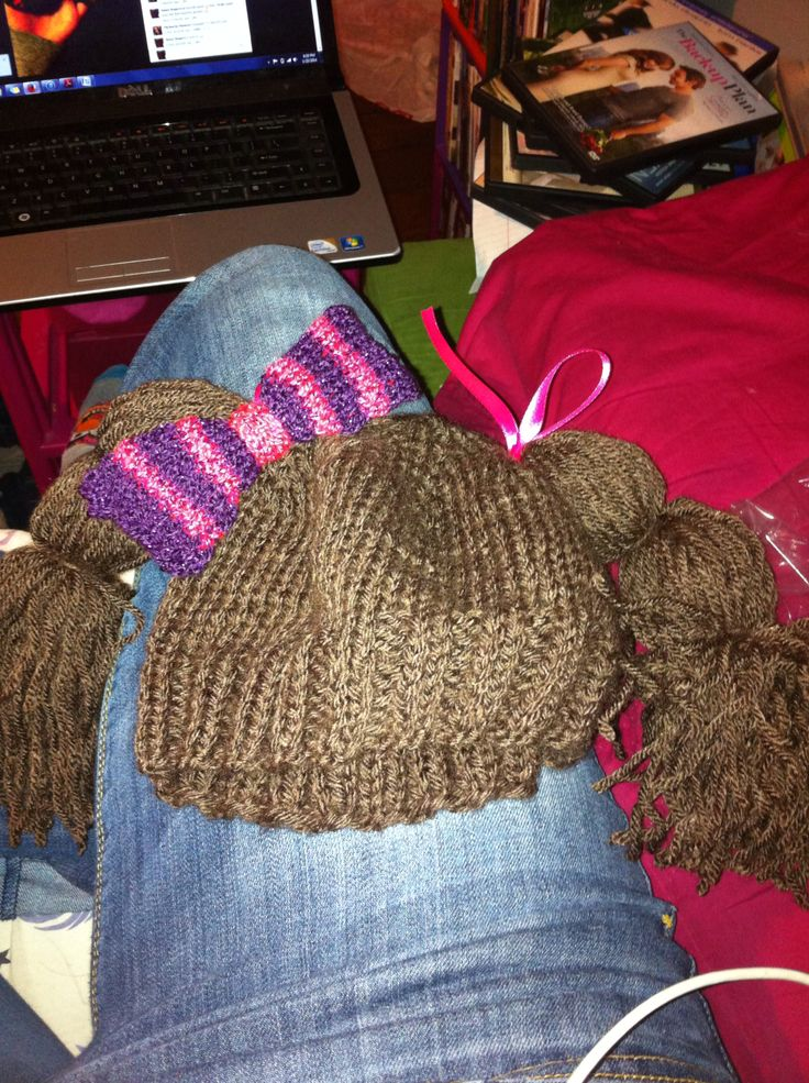 Idea for cabbage patch hat Knitting Pinterest