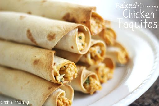 Be sure and join me on Facebook for the latest updates on new recipes! I LOVE taquitos!  They are seriously so delicious!  When I saw this recipe for homemade BAKED taquitos, I knew it would be on the dinner menu ASAP!  My family gobbled these up!  When my husband