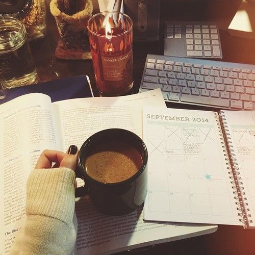 today it is chilly and I am cuddling indoors studying.