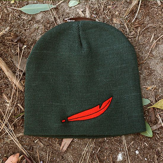 b*More Neverland beanies will be in back stock around August!*/bBut, Peter, how do we get to Never Land?Fly, of course!Take off to Neverland with this Peter inspired beanie.Limited quantities available.8.5 in length100% acrylicRed feather embroidered designSold out? Keep up to date with new inventory at the Whosits   Whatsits a href=http://www.facebook.com/whositswhatsitsFacebook page/a**