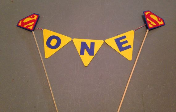 Superman cake topper Superman party by InspiredbyLilyMarie on Etsy