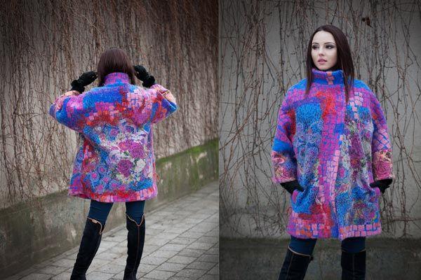 handfelting,wool felted coat