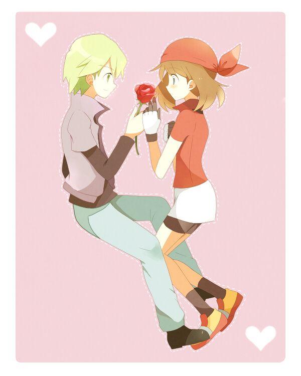 Drew X May Pokemon Kiss Images   Pokemon Images