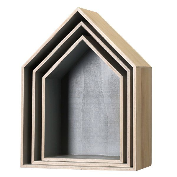 You'll love the 3 Piece Wood Display House Shelf Set at AllModern - With Great Deals on modern Décor + Pillows products and Free Shipping on most stuff, even the big stuff.