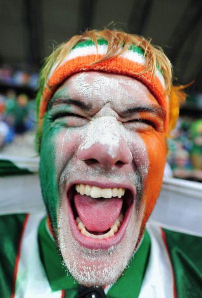 Republic of Ireland fan enjoys the atmosphere prior to the UEFA EURO 2012 group…