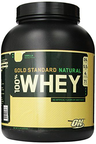 Optimum Nutrition 100% Whey Gold Standard Natural Whey, Vanilla, 5 Pound. The sports nutrition industry's best-selling whey protein powder represents the gold standard of protein quality.