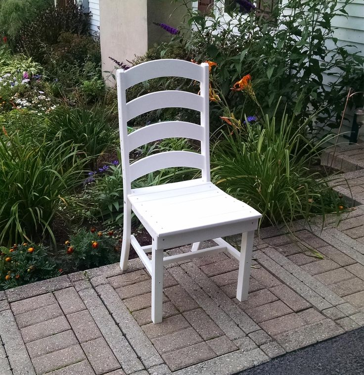 amish poly ladder back dining chair - Outdoor Set