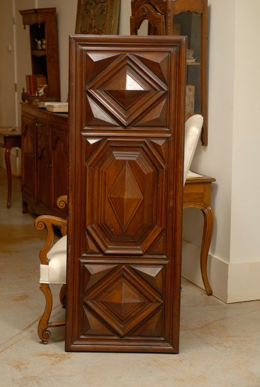 1stdibs   Pair of Louis XIII Period Architectural Panels in Walnut