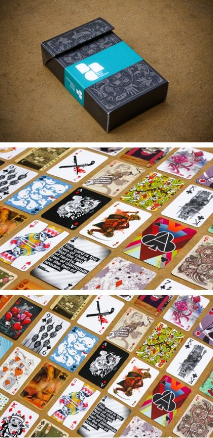 Black Rock Collective's collaborative custom playing card deck by their graphic designers.