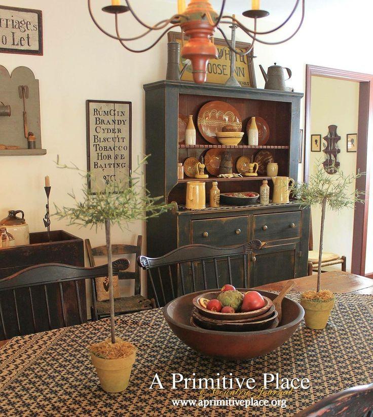 Rustikale Esszimmer, Primitive Homes, Primitive Art Herbst, Schlichte Küchen,  Primitive Volkskunst, Urtümliches Dekor, Esszimmer Ideen