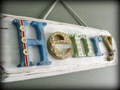 wooden name signs - Google Search