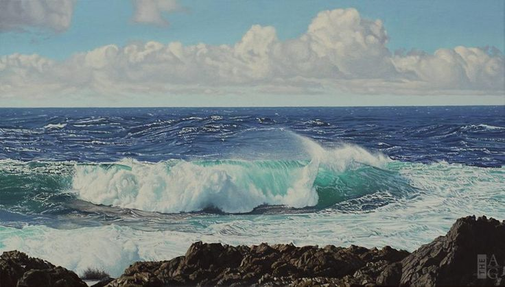 "Ron Parker - Windswept - oil on canvas - 24"" x 42"""
