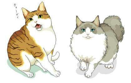 고양이 일러스트 모음