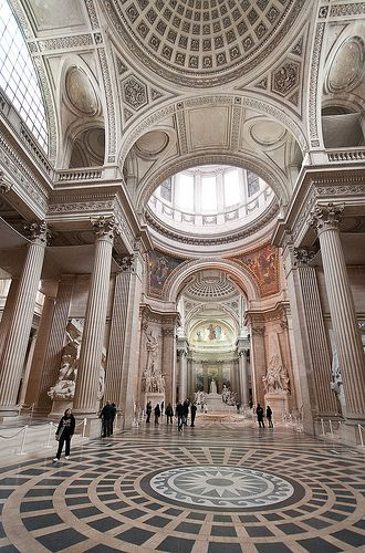 The Panthéon in Paris, now functions as a secular mausoleum containing the remains of distinguished French citizens.