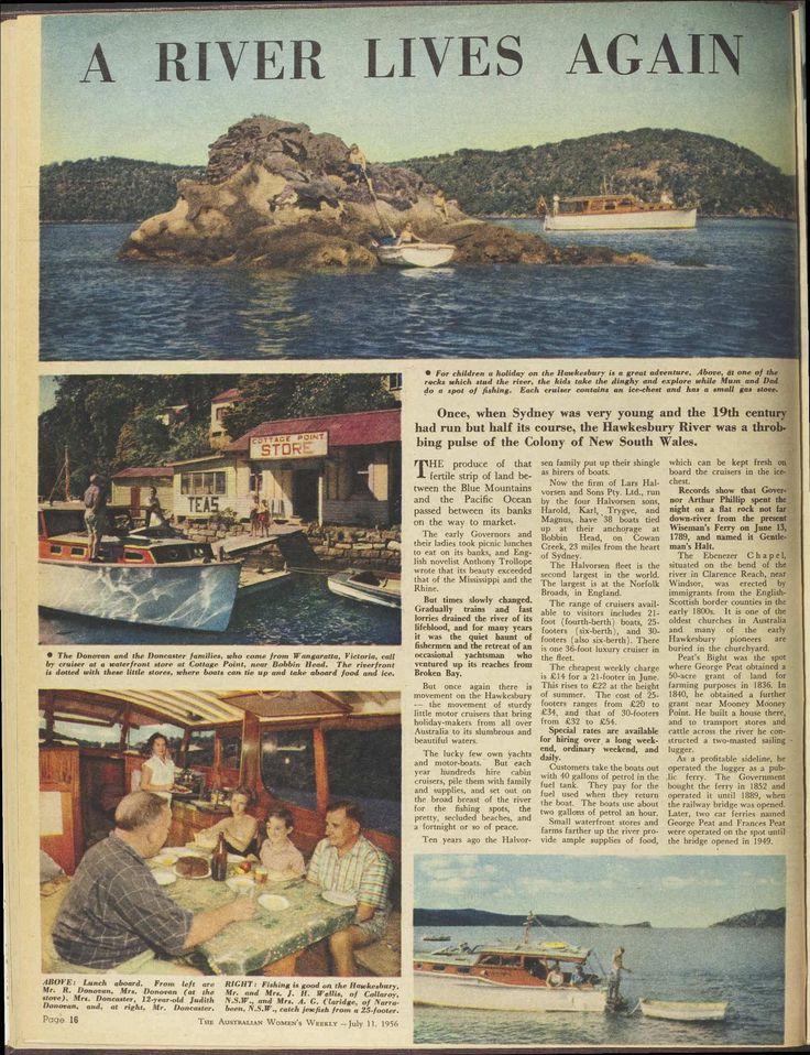"""The Halvorsen fleet is the second largest in the world..."" Article on Bobbin Head and the Halvorsen fleet: 11 Jul 1956 - The Australian Women's Weekly"