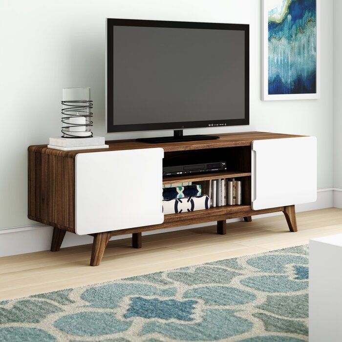 Chapdelaine Tv Stand For Tvs Up To 70 Contemporary Tv Stands