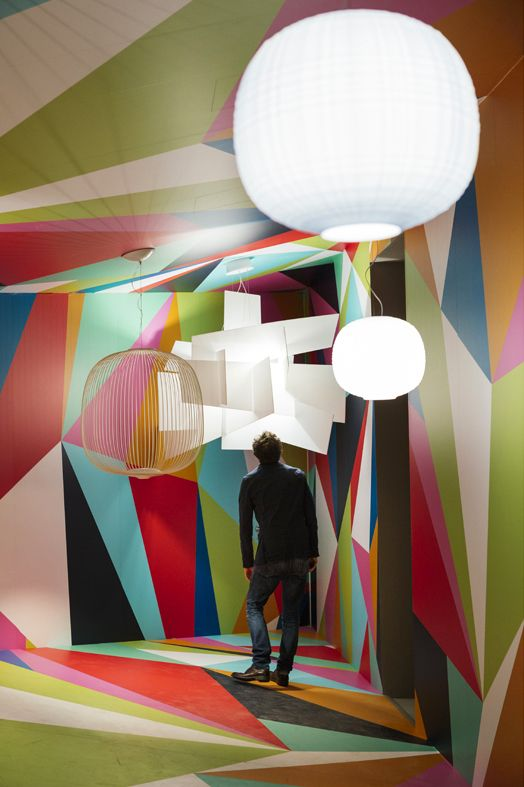 The Foscarini installation 'Reality or Illusion? Giant is a state of mind' designed by Ferruccio Laviani displayed for the Milano Design Week 2016 . Lamp: Big Bang, Spokes e Twiggy /// L'installazione 'Reality or Illusion? Giant is a state of mind' firmata Ferruccio Laviani presentata durante la Milano Design Week 2016. Lamp: Big Bang, Spokes e Twiggy • Photo Lea Anouchinsky